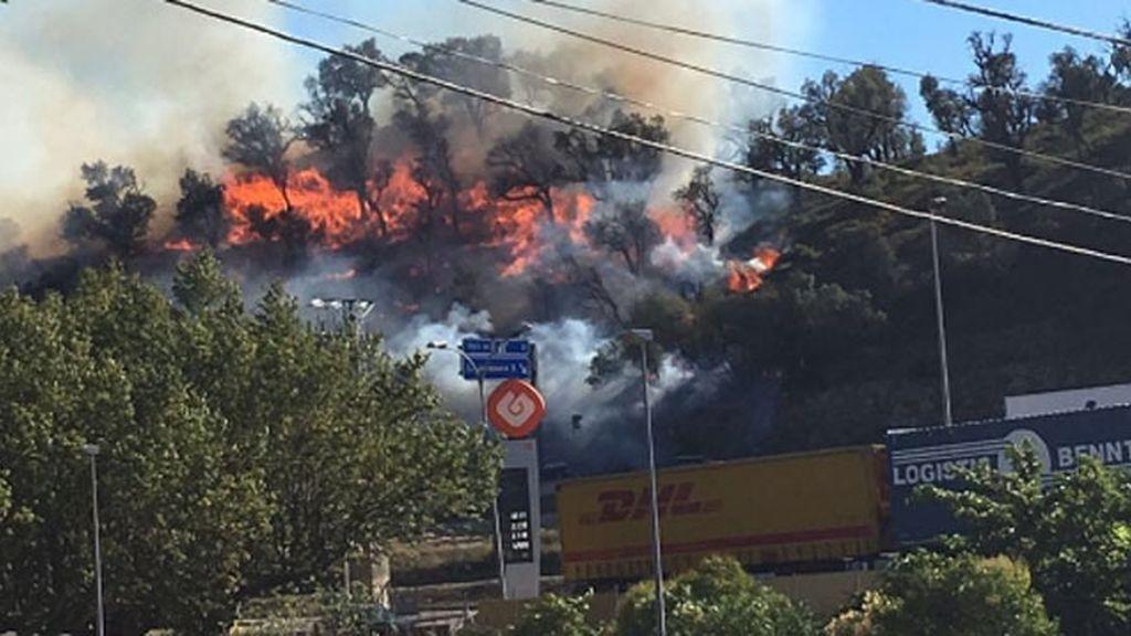 Incendio AP-7 Junquera