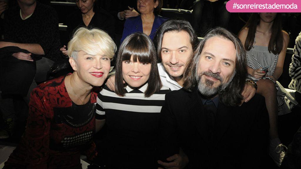 Antonia San Juan, Laura Caballero, Alberto Caballero y Sergio Mitjans