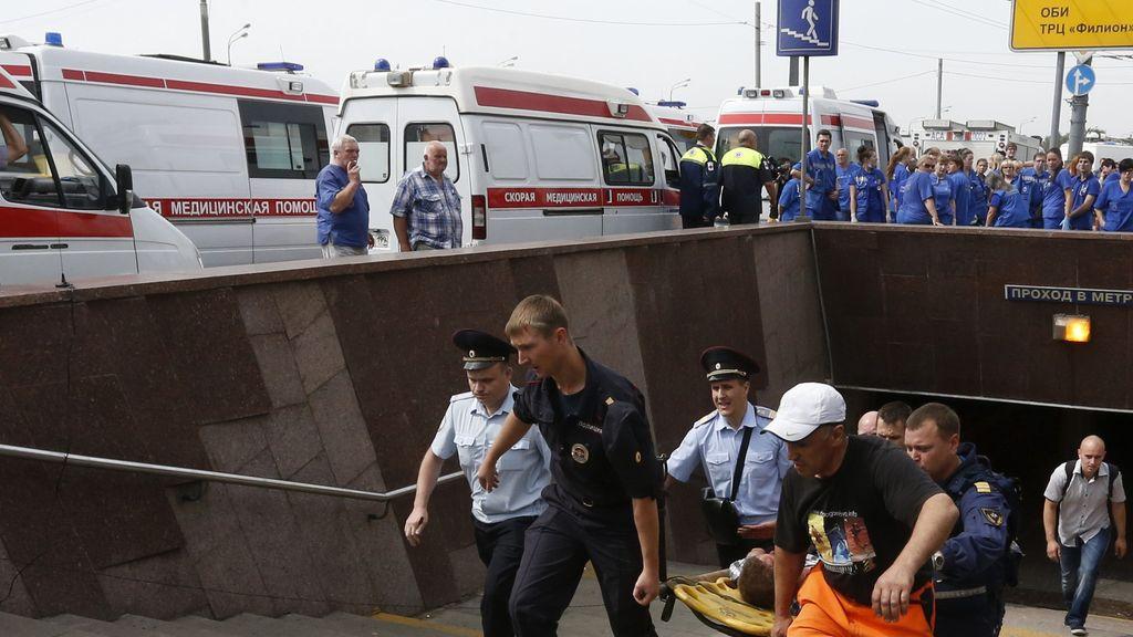 Grave accidente en el metro de Moscú