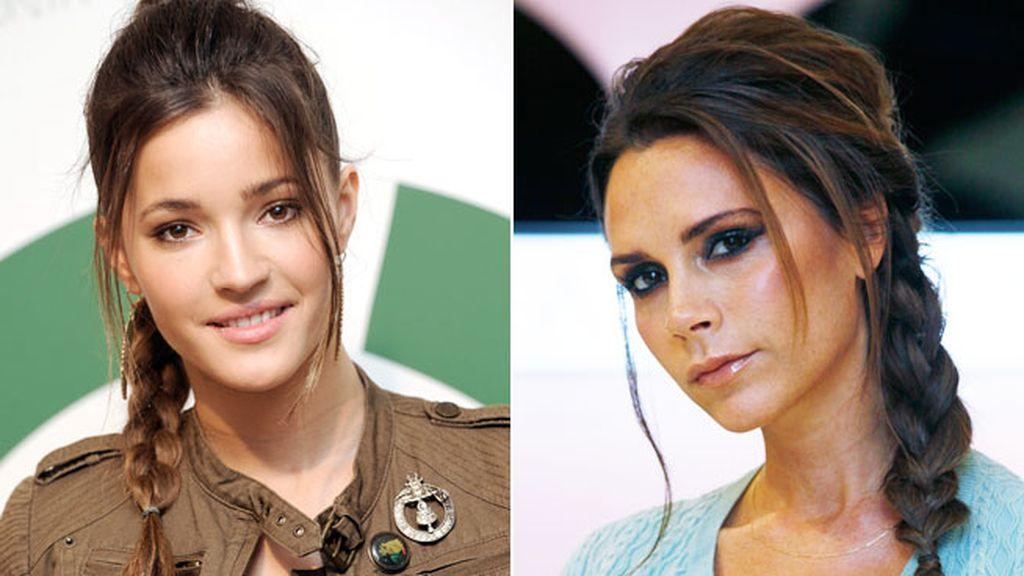 Malena Costa y Victoria Beckham, mechones sueltos