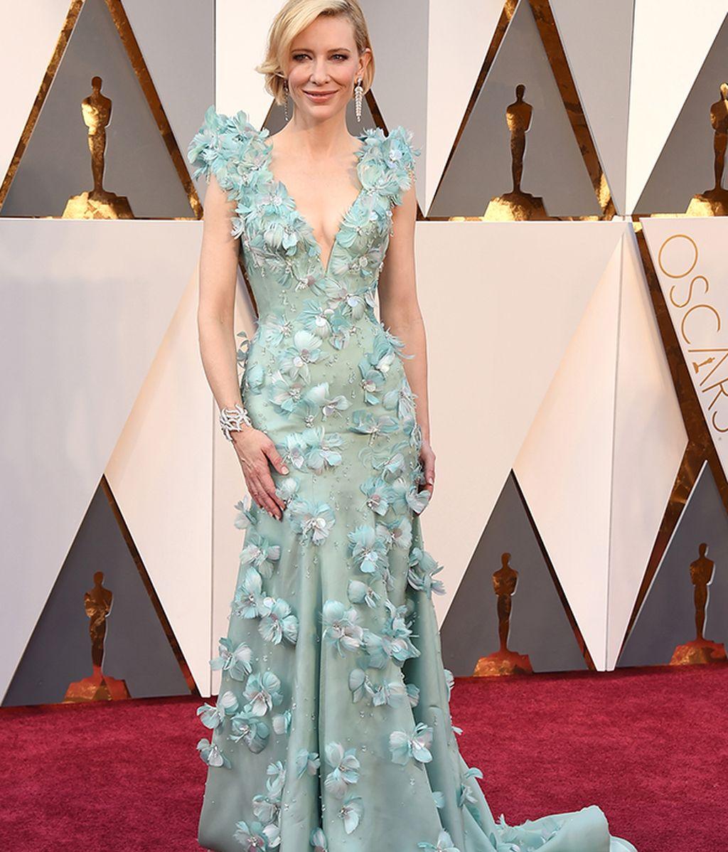 Cate Blanchett, muy floreada de Armani Privé