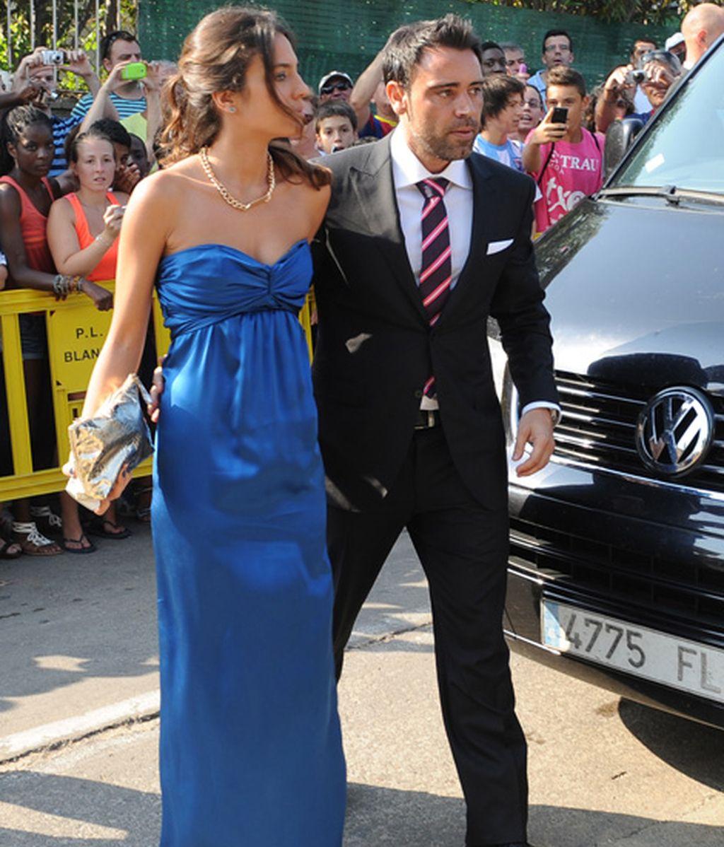 Alex Hernández a su llegada a la boda