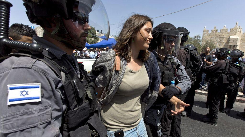La Policía israelí disuelve con gases lacrimógenos varias manifestaciones