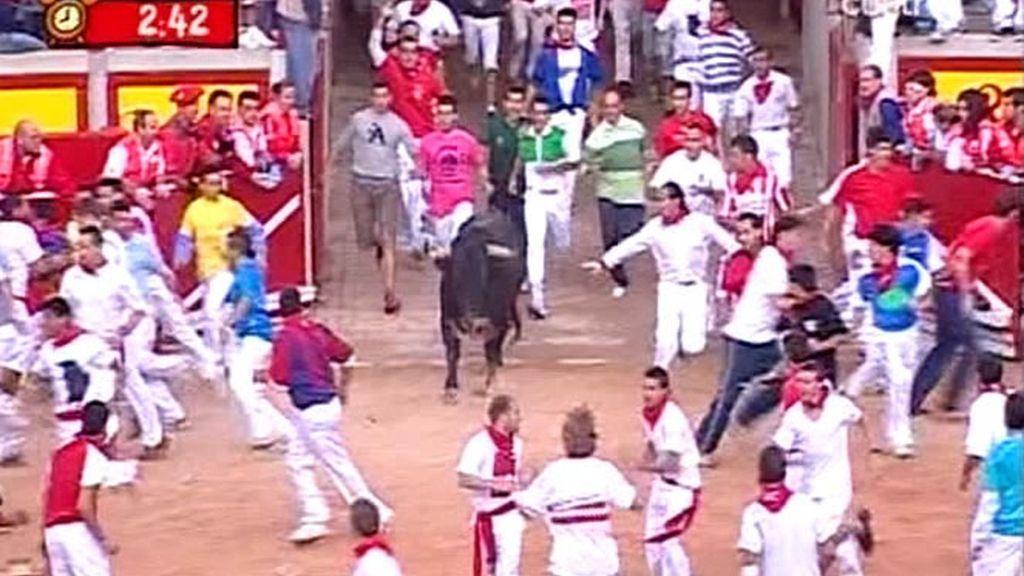 El encierro de los toros de Dolores Aguirre tuvo una duraciíon de 2m54s