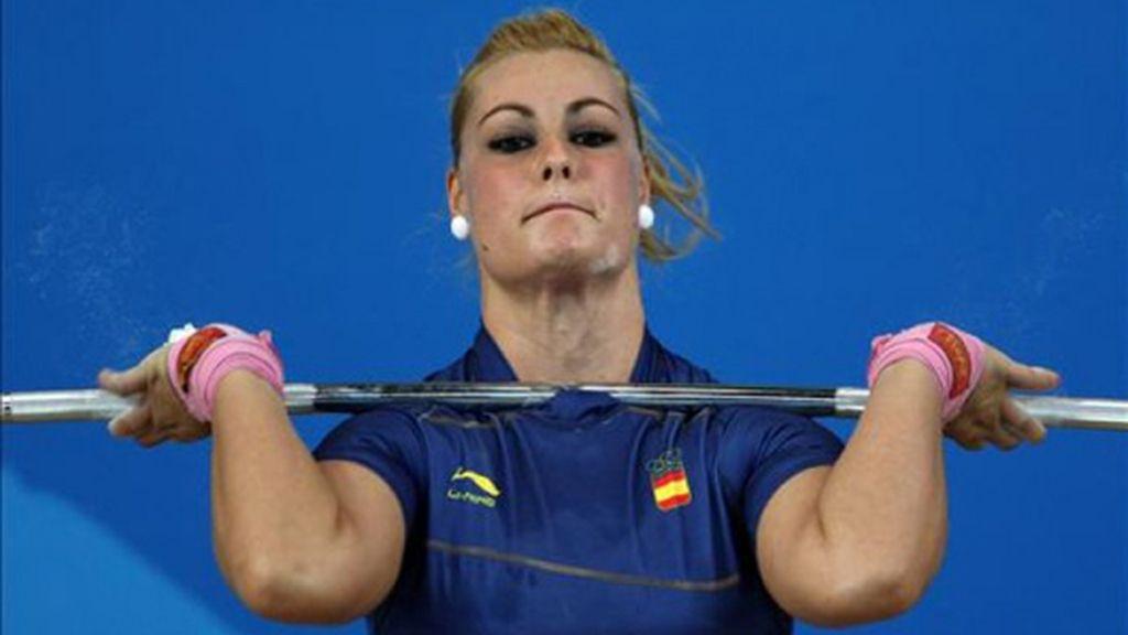 Lidia Valentín, quinto puesto en 75 kilos