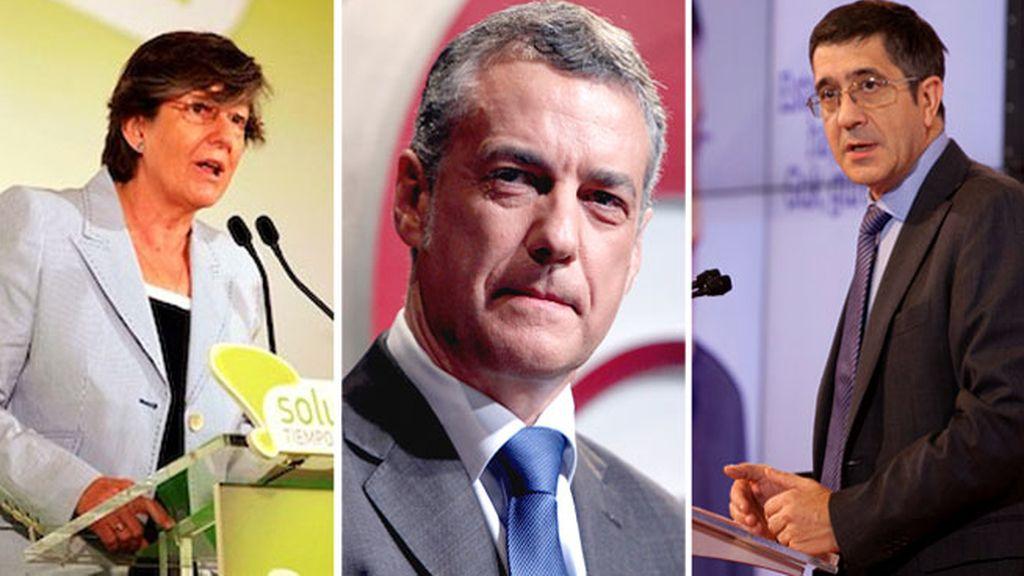 Laura Mintegi, Iñigo Urkullu y Patxi López