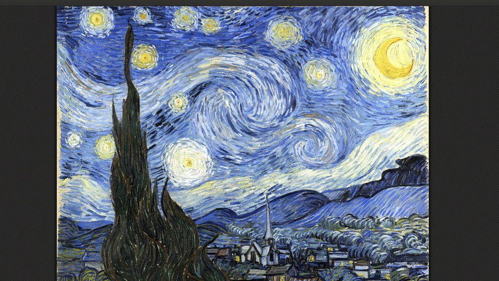 """La noche estrellada"""", una de las obras maestras de Vincent Van Gogh (1853-1890) y una de las más de 30.000 obras de arte de los 151 museos de 40 países -entre ellos España, México, Argentina, Brasil, Colombia y Perú- que pueden verse a partir de ahora por internet gracias al programa """"Art Project"""" de Google"""