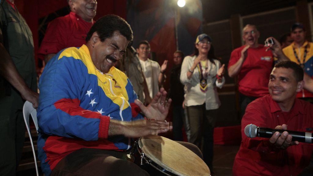 Maduro durante un mitin