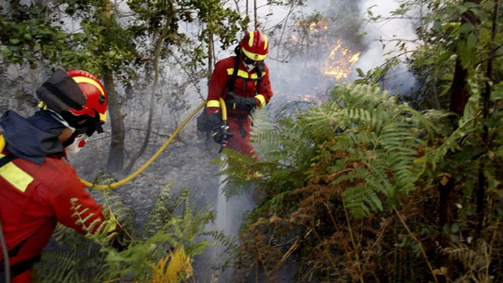 Incendio en Boiro, Galicia