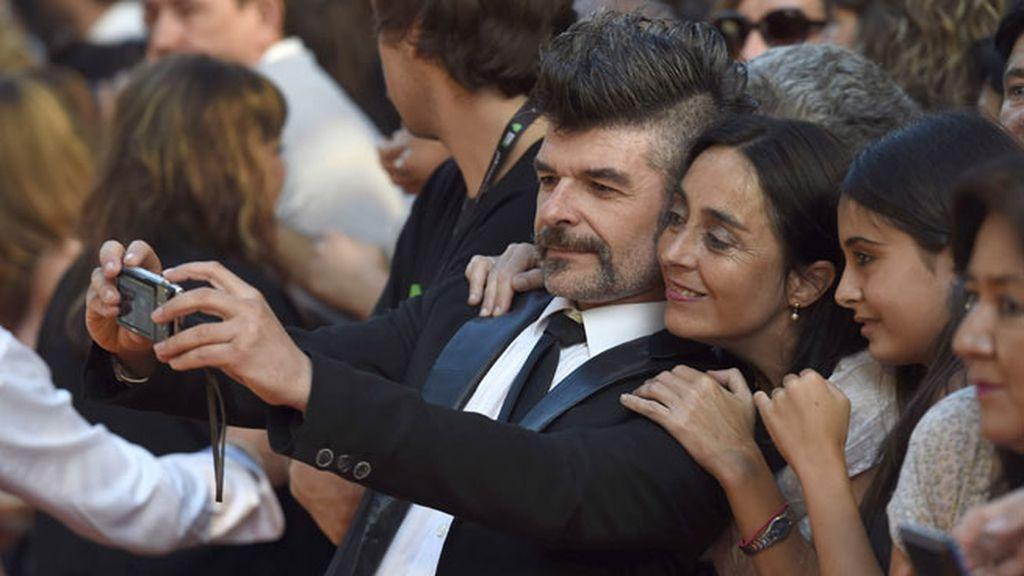 El actor Nacho Guerreros, Coque en 'LQSA' acudió con su particular peinado