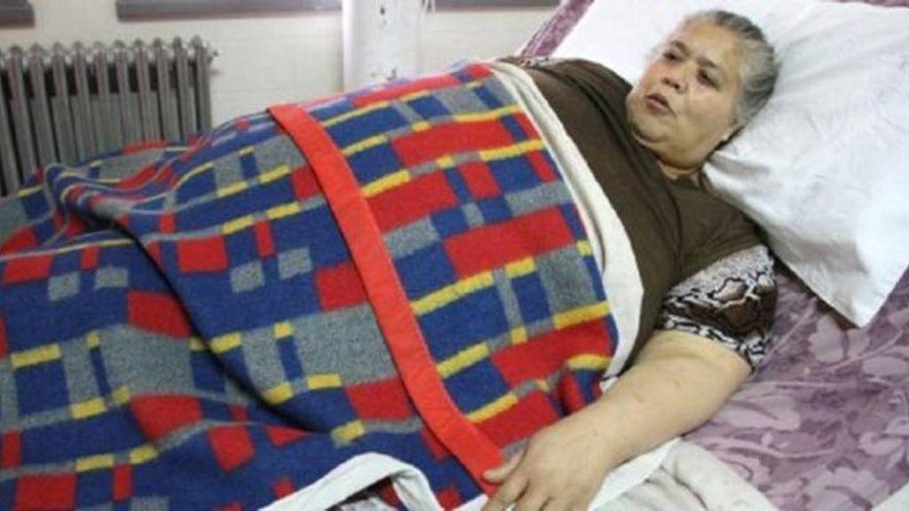 Mariela Bustos, abandonada a pesar de sus 250 kilos