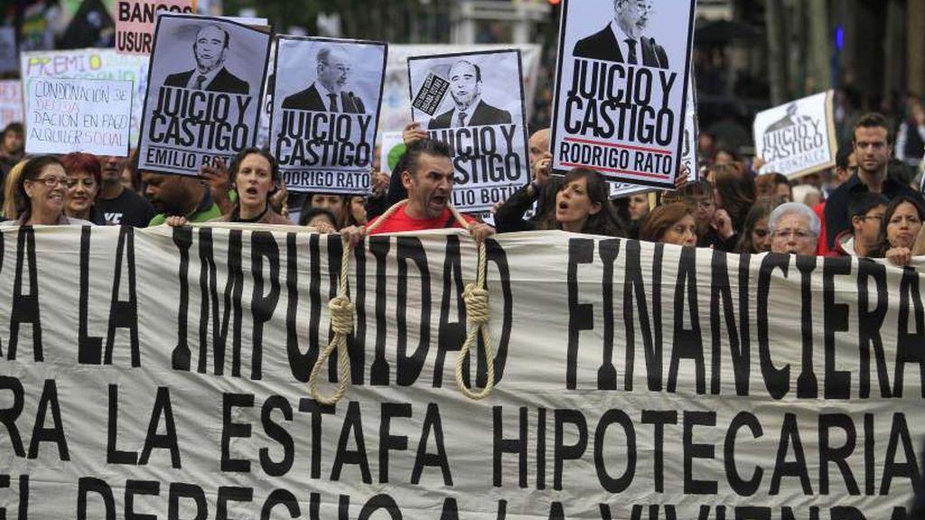 Imagen de archivo de la primera concentración contra la impunidad financiera