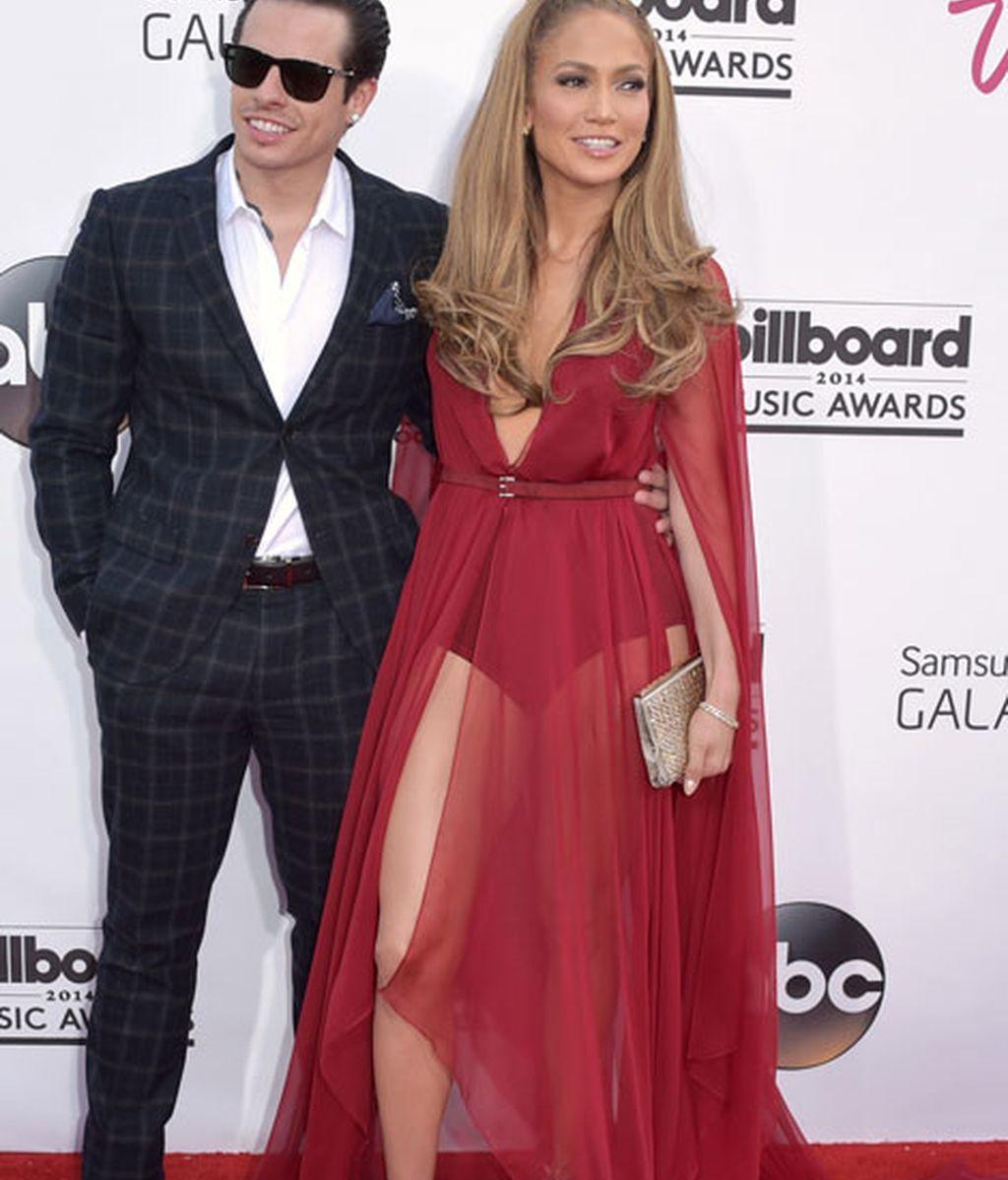 La pareja formada por Jennifer Lopez y Casper Smart