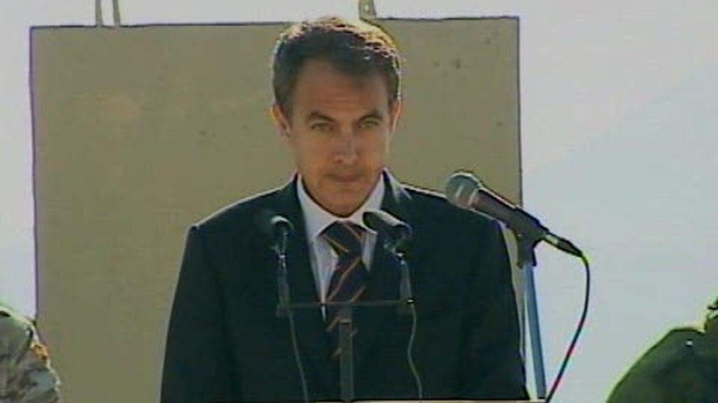 Visita de Zapatero a Afganistán