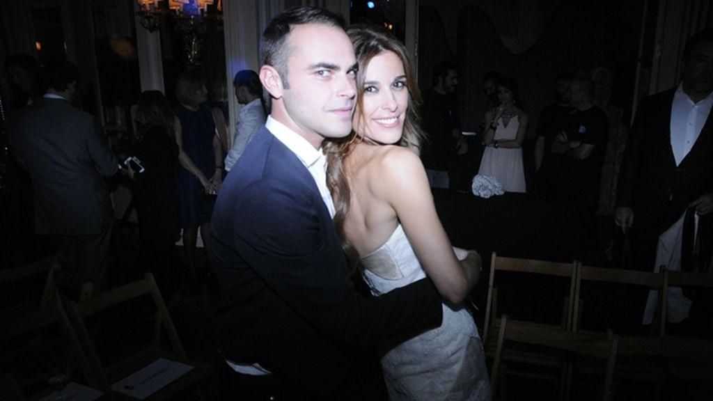 Ion Fiz con su musa y amiga Raquel Sánchez Silva, presentadora de la gala