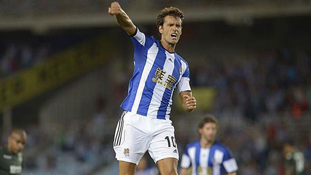 Xabi Prieto celebrando un gol