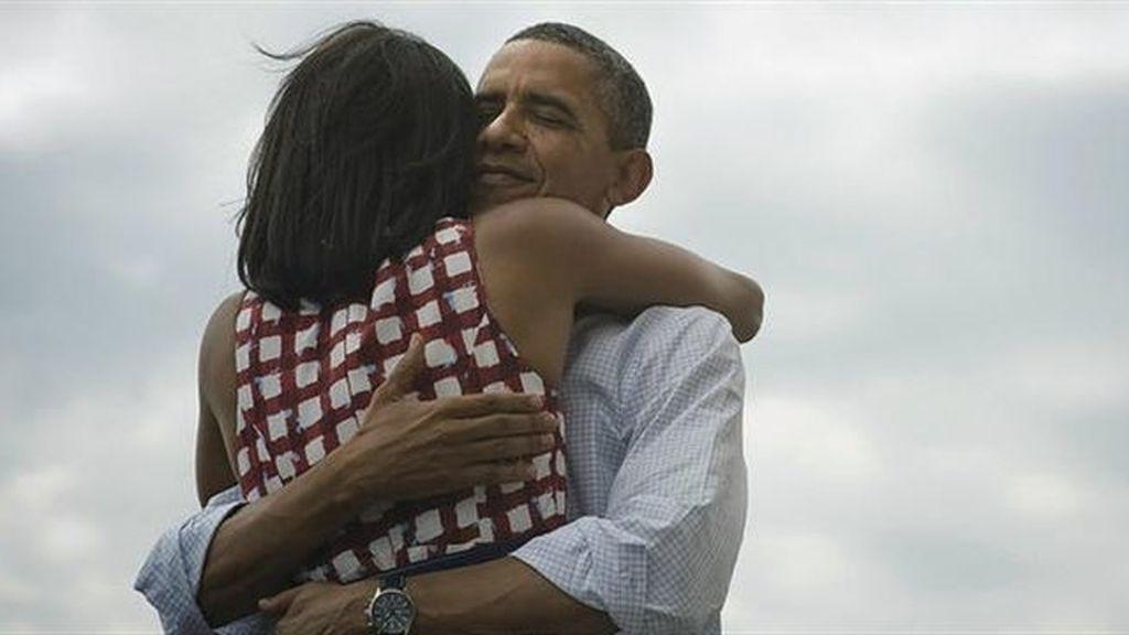 El presidente Obama ha colgado esta foto en Twitter al saberse ganador