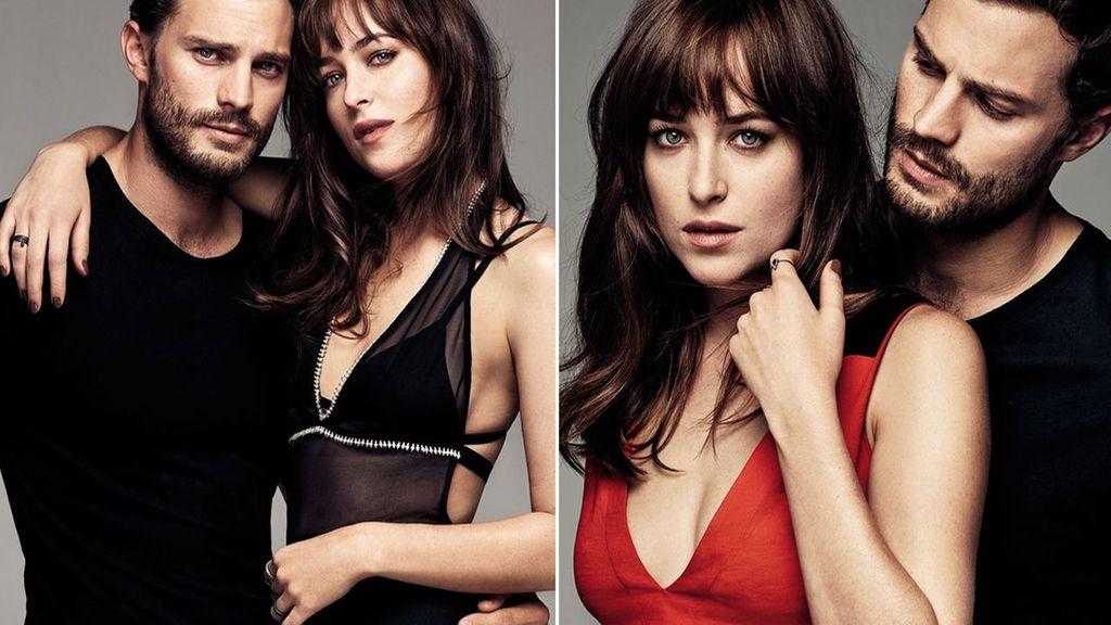 Jamie Dornan y Dakota Johnson muy sexys para Glamour