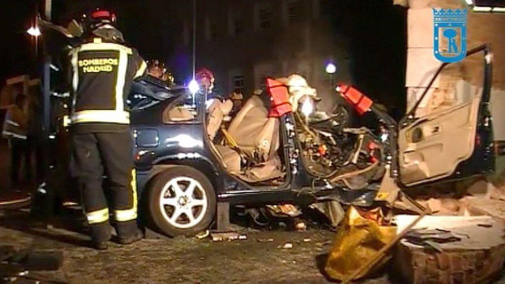 Fallece un hombre tras empotrar su vehículo contra el muro del recinto exterior de la Nunciatura Apostólica (Madrid)