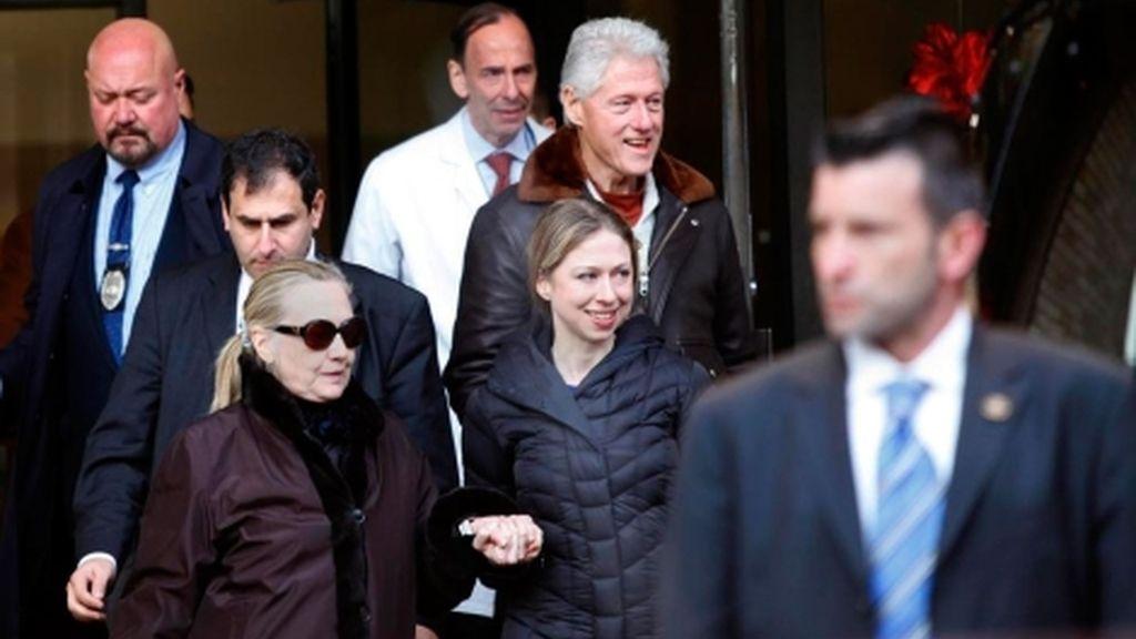 Hillary Clinton abandona el hospital