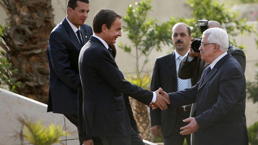 Zapatero y Abbas