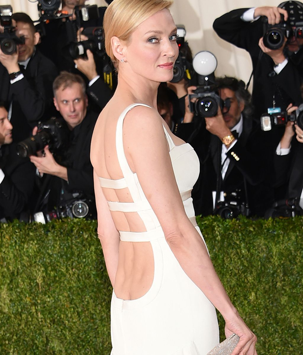 Espalda del vestido de Uma Thurman