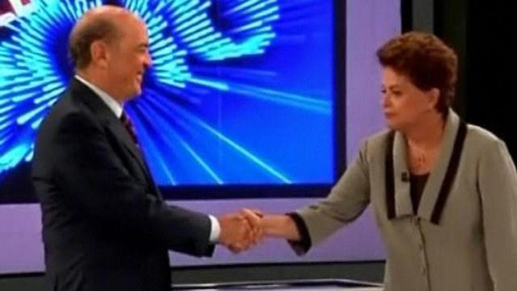 Rousseff y Serra aparcan diferencias en su último debate
