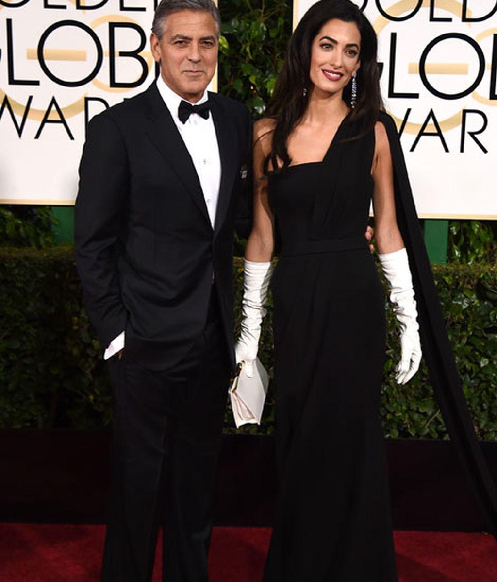 George y Amal Clooney, ella de Dior Haute Couture