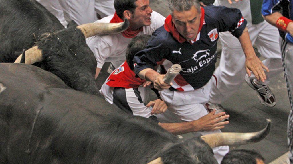 Corriendo junto al toro