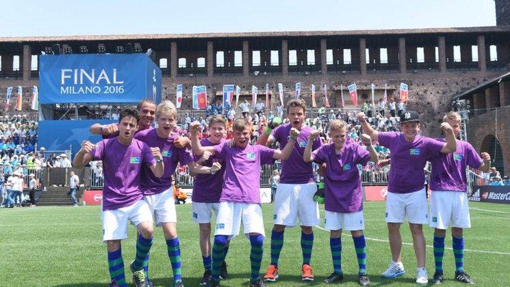Un joven Cristiano esloveno da la victoria al Maribor en el torneo de Fútbol por la Amistad