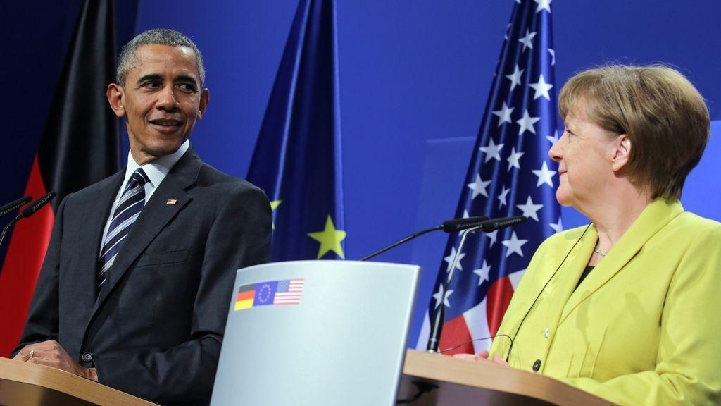 Obama y Merkel en Hannover
