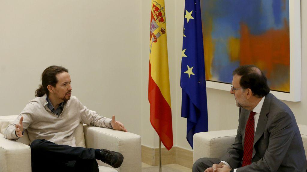 Rajoy recibe a Pablo Iglesias en Moncloa