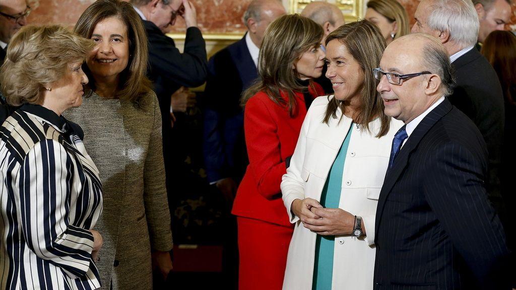 Acto en el Congreso para celebrar el 35 aniversario de la Constitución
