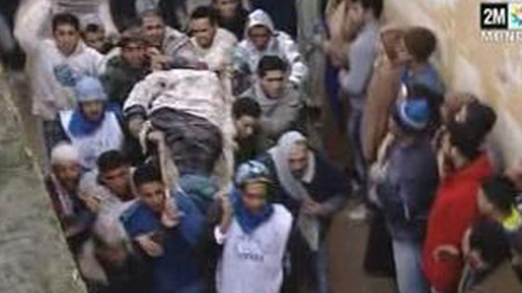Derrumbe de un minarete en Marruecos