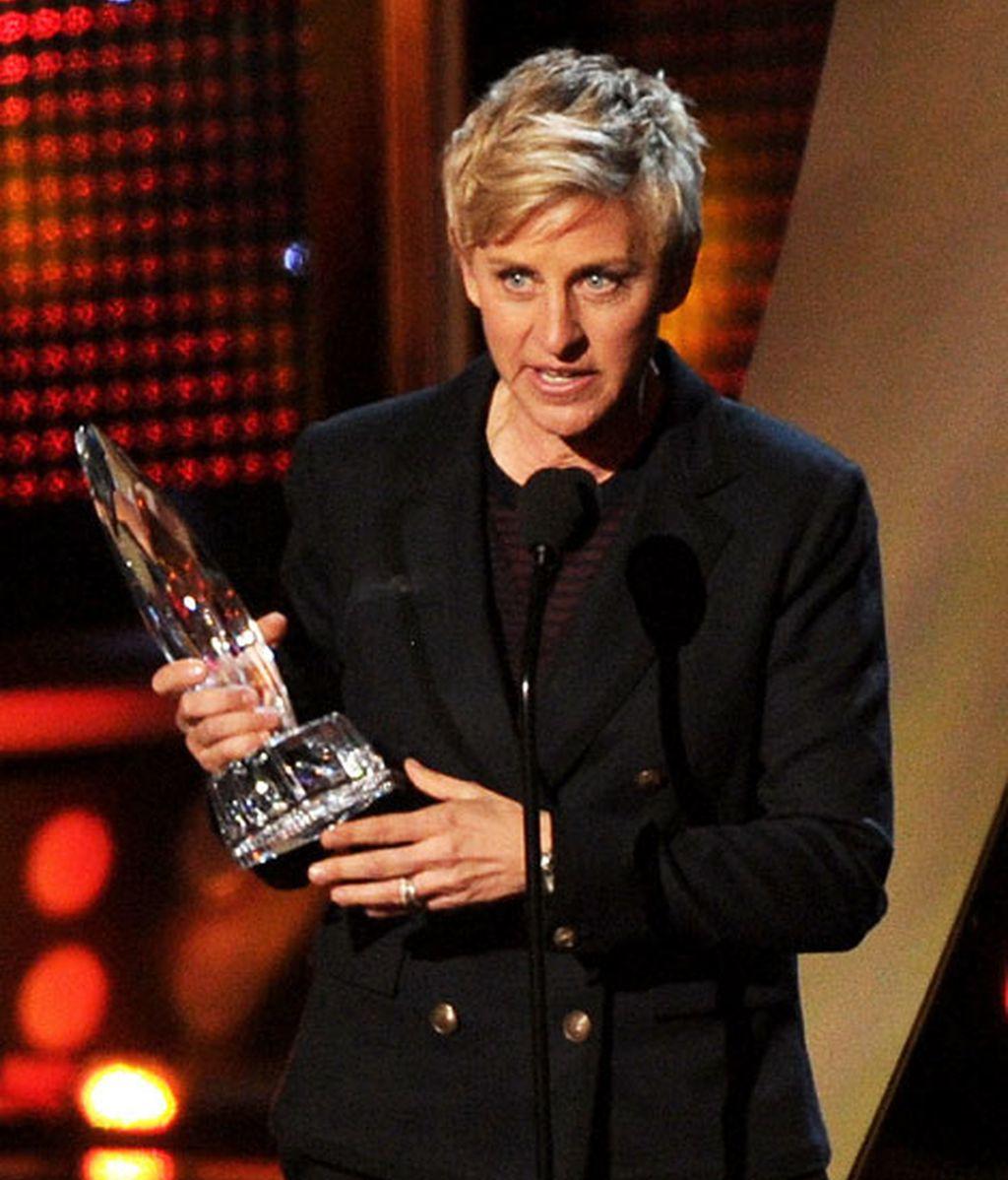 Ellen DeGeneres agradece su premio a conductora favorita de tv
