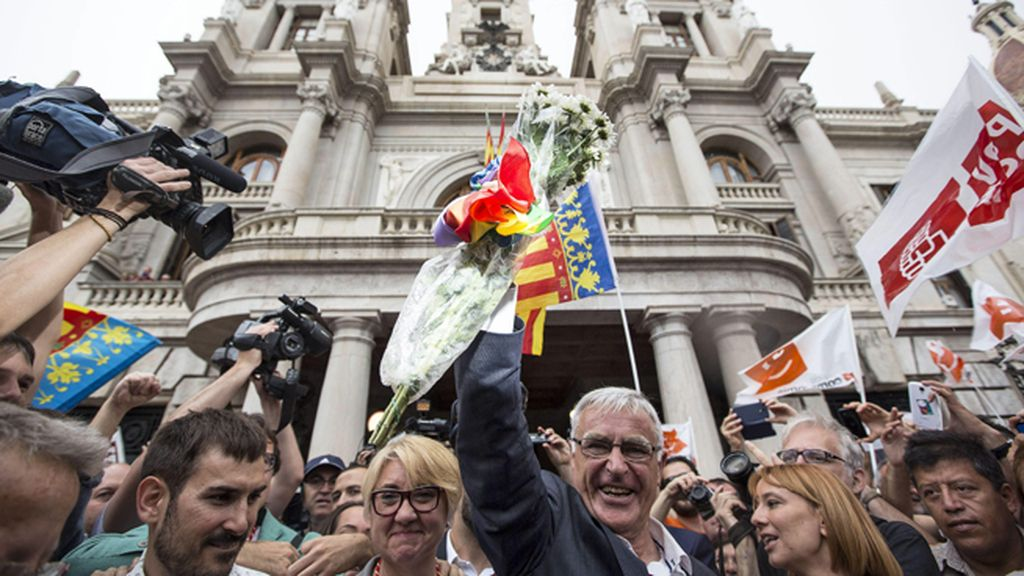 Joan Ribó celebra su alcaldía en Valencia