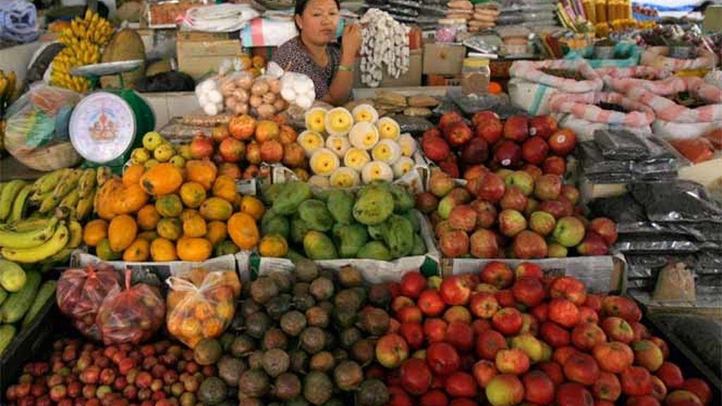 Puesto de frutas y hortalizas