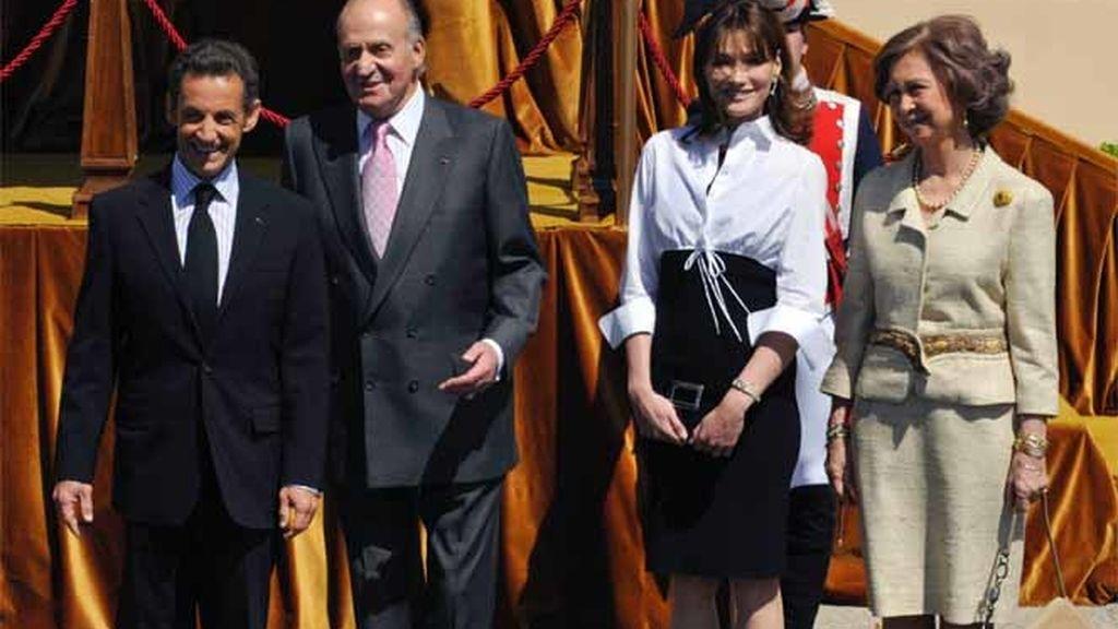 Sarkozy y Bruni en España
