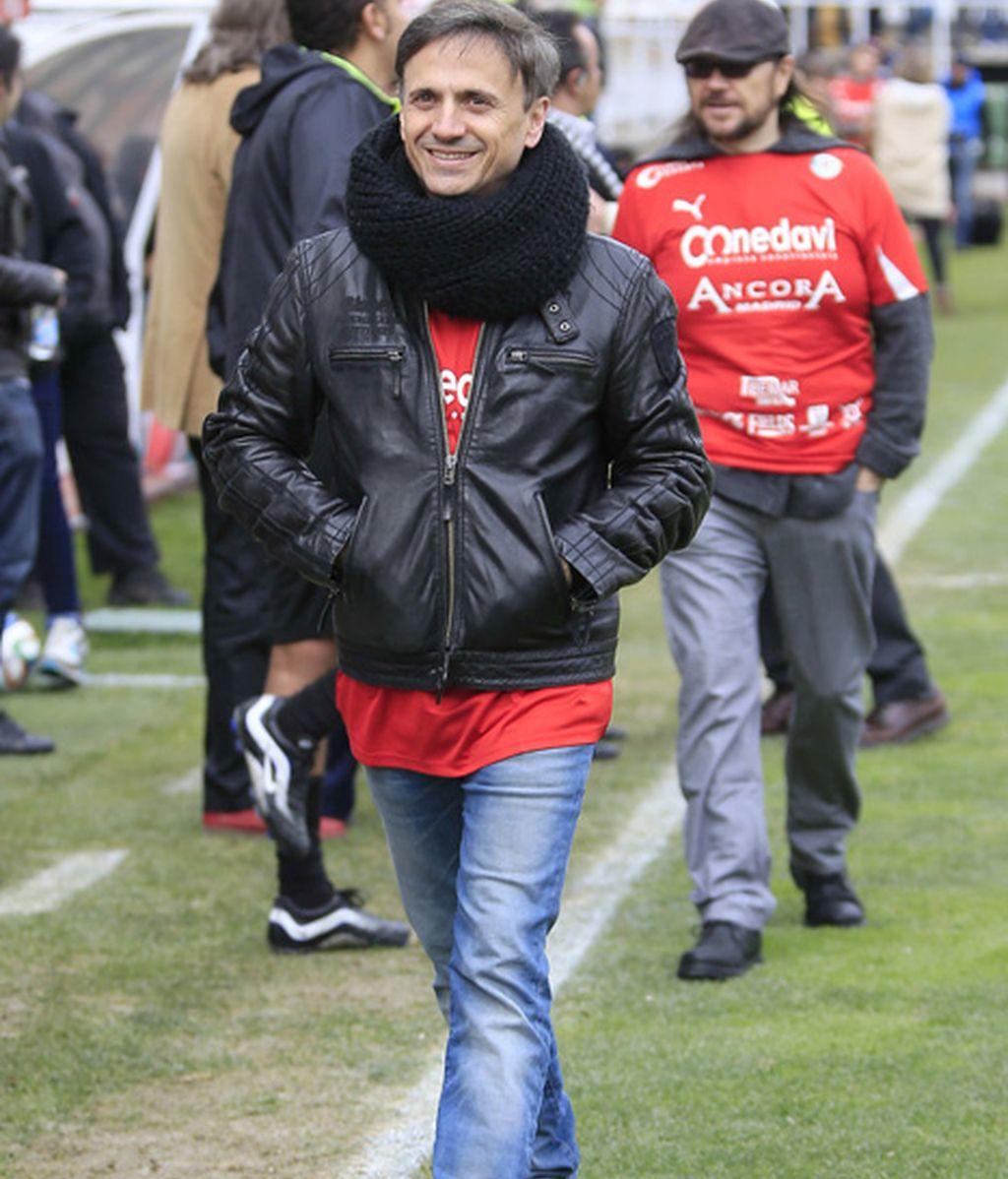 José Mota, de 'Cruz y Raya', no faltó al partido
