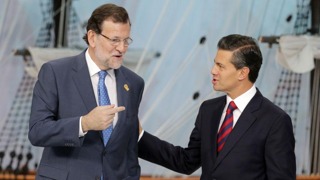 El presidente del Gobierno, Mariano Rajoy, y el presidente de México, Enrique Peña Nieto
