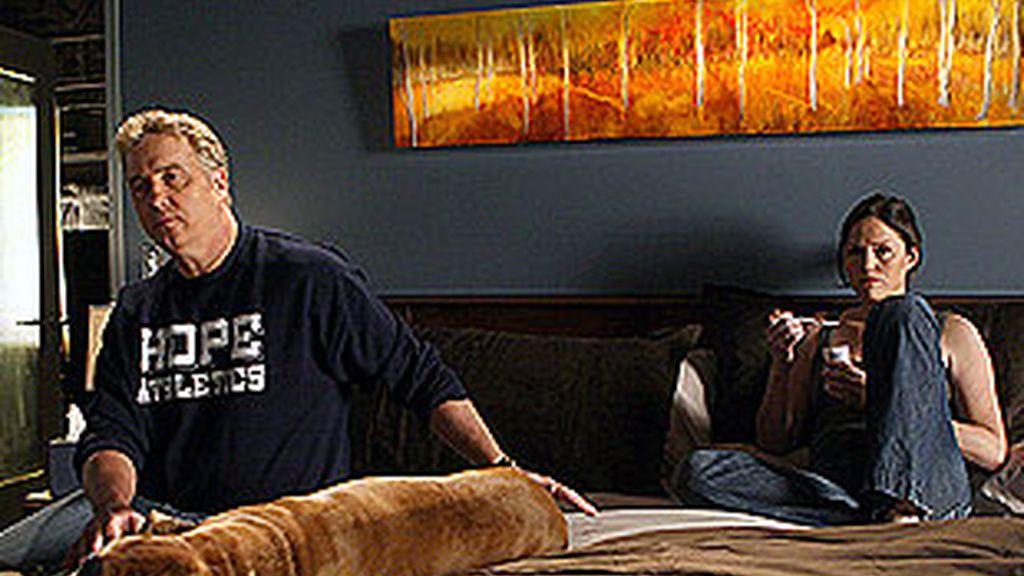 Grissom y Sara a lo Mulder y Scully