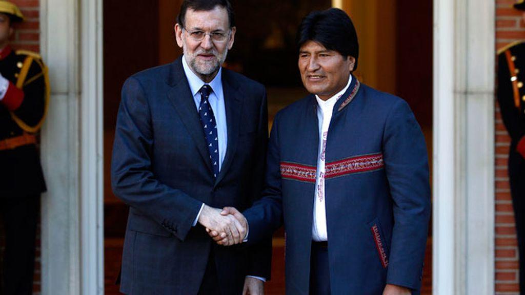 Morales en Moncloa con Rajoy
