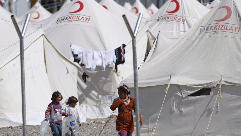 Refugiados sirios en el campo turco de Gazintep