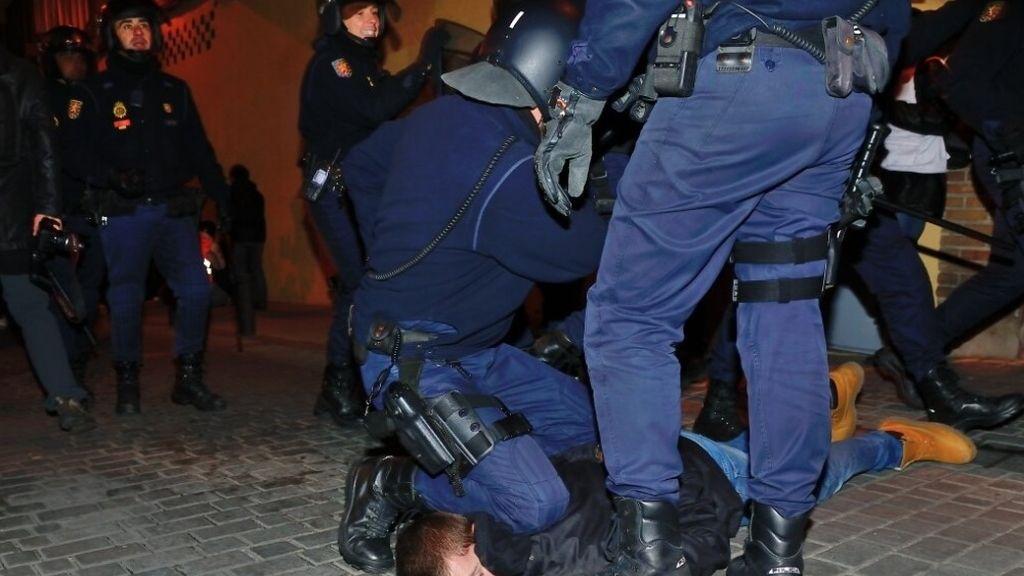 Disturbios en la 'Marea Ciudadana' en Madrid