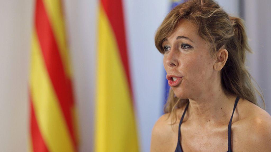 Alicia Sánchez Camacho en un acto de NNGG del PPC