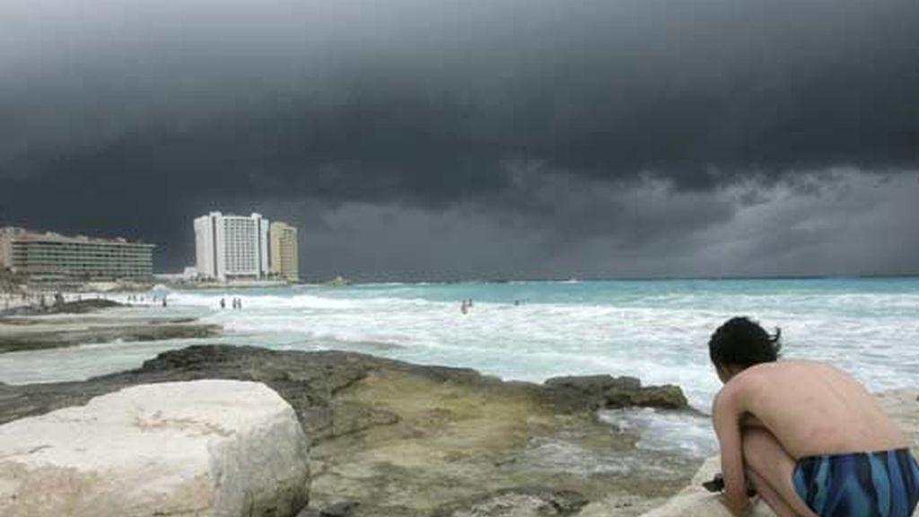 Turistas en Cancún