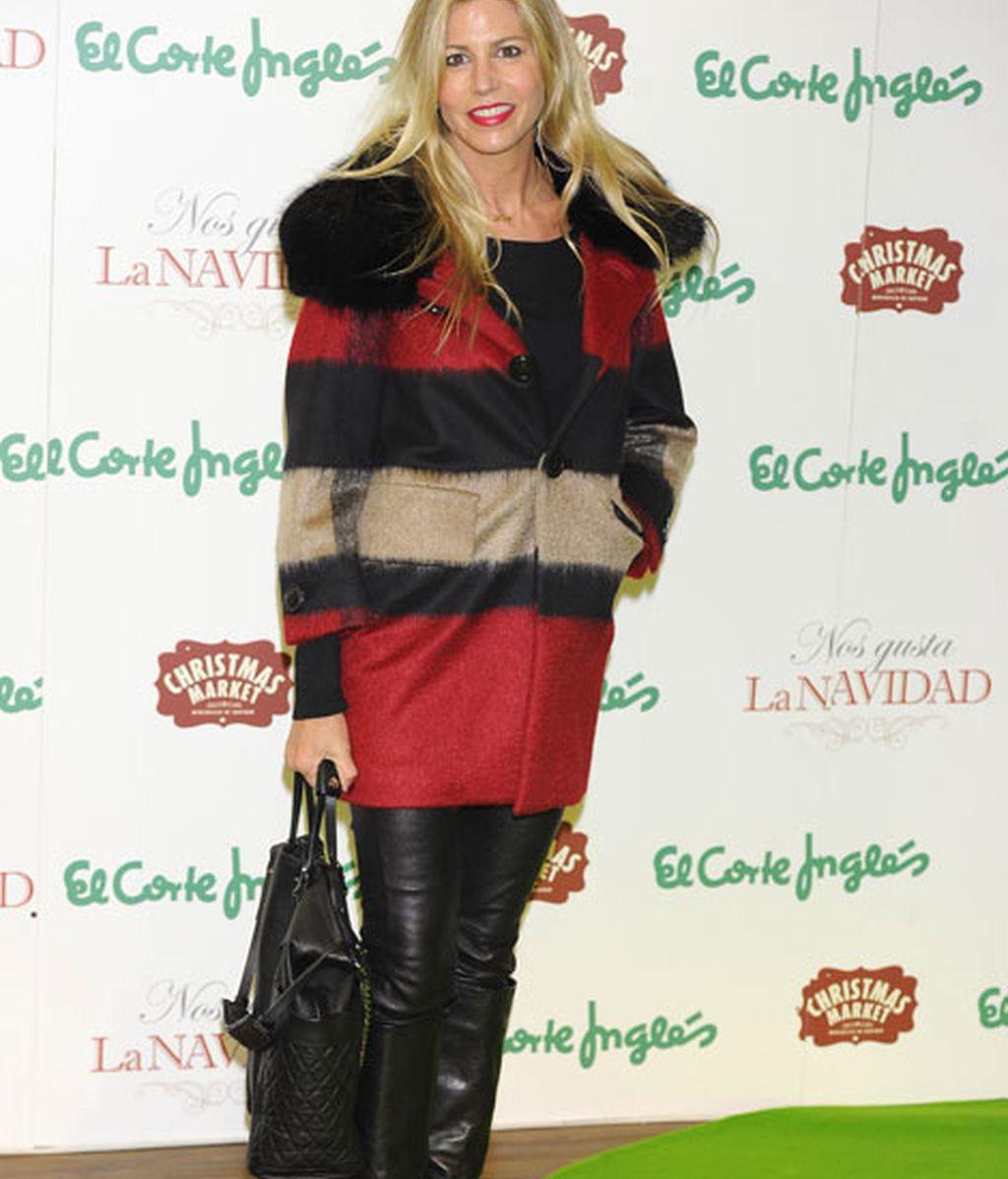 Patricia Cerezo, con pantalones de cuero negros