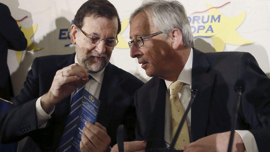 Mariano Rajoy y Jean-Claude Juncker en un acto en Madrid