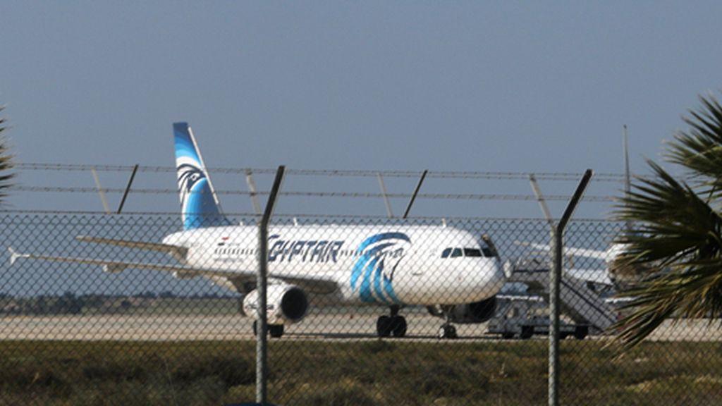 Avión secuestrado en Chipre