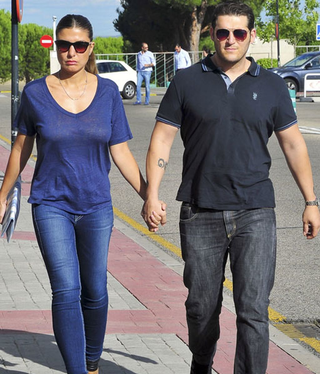 Manu Tenorio y su mujer Silvia Casas